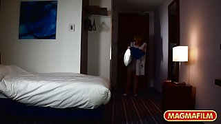 Ass fucking young German hotel maid