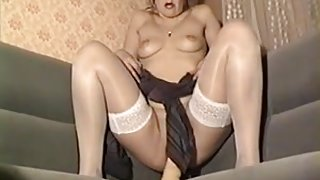 Anna masturbate with huge dildo