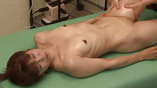 Skinny Japanese babes in perverted lez action
